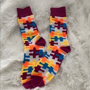 Autism inspired symbol socks 5 for 25